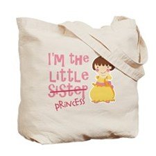 Funny Little Sister Princess Tote Bag