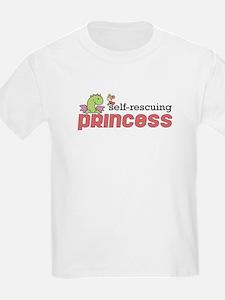 Self Rescuing Princess Girls T-Shirt