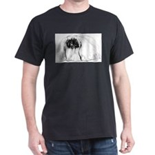 Pekingese in Profile Black T-Shirt