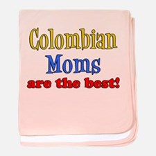 Colombian Moms Are Best baby blanket