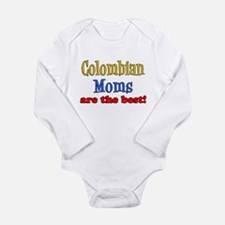 Colombian Moms Are Best Long Sleeve Infant Bodysui
