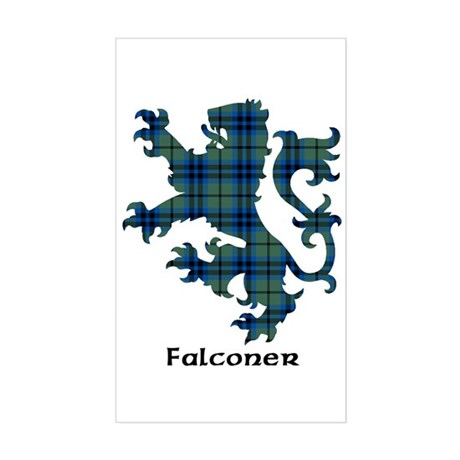 Lion - Falconer Sticker (Rectangle)
