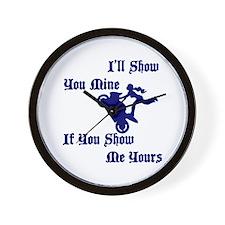 Ill Show You Mine Stunter Wall Clock