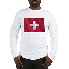 Wavy Switzerland Long Sleeve T-Shirt