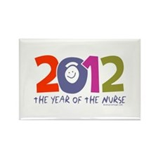 2012 - Year of the Nurse Rectangle Magnet