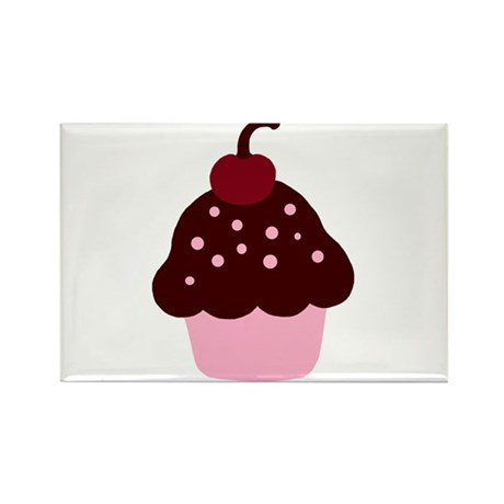 Pink and Brown Cupcake Rectangle Magnet (10 pack)