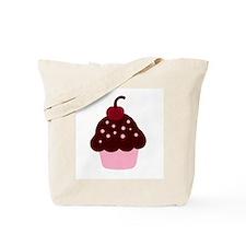 Pink and Brown Cupcake Tote Bag