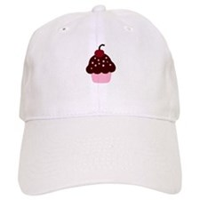 Pink and Brown Cupcake Baseball Cap