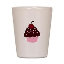 Pink and Brown Cupcake Shot Glass