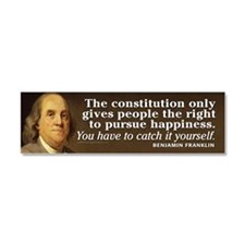 Ben Franklin Quotes Car Magnet 10 x 3