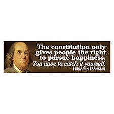 Ben Franklin Quotes Car Sticker