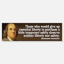 Ben Franklin Quotes Bumper Bumper Sticker