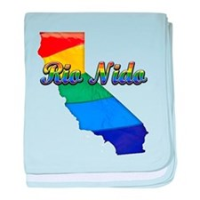 Rio Nido, California. Gay Pride baby blanket