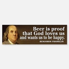 Ben Franklin Quotes Bumper Bumper Sticker