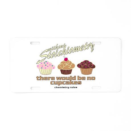 Chemistry Cupcakes Aluminum License Plate
