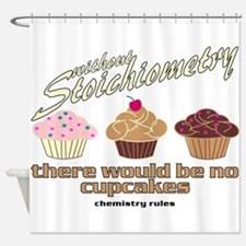Chemistry Cupcakes Shower Curtain