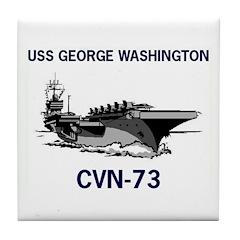 USS GEORGE WASHINGTON Tile Coaster