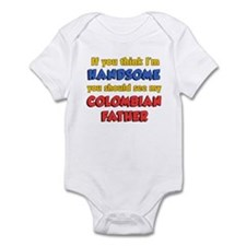 I'm Handsome Colombian Father Infant Bodysuit