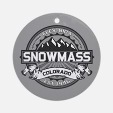 Snowmass Grey Ornament (Round)
