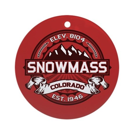 Snowmass Red Ornament (Round)