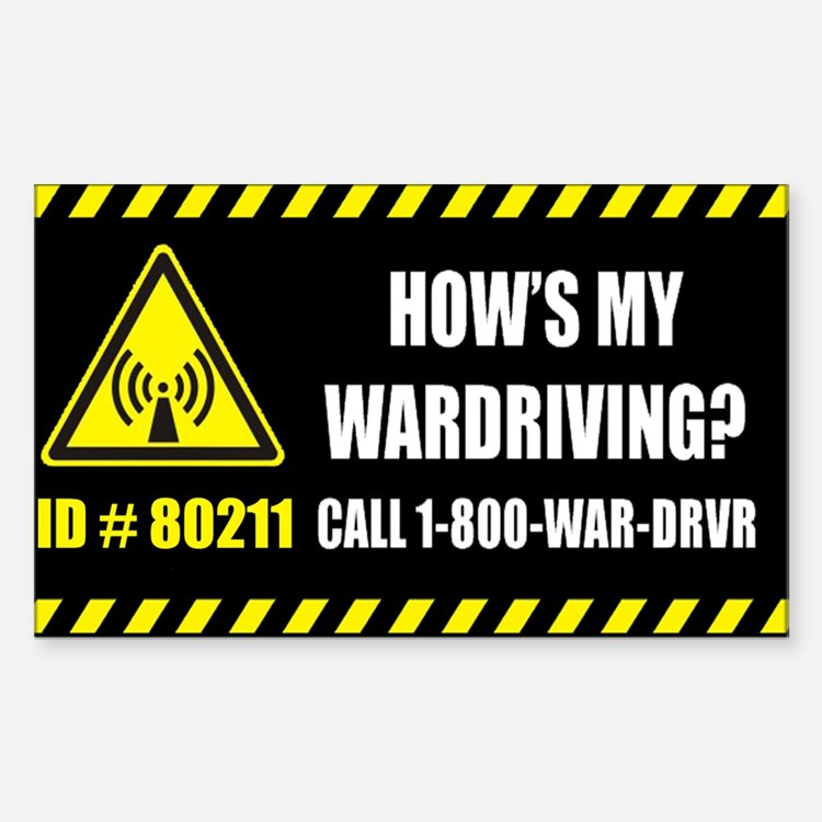 How's My Wardriving? sticker.