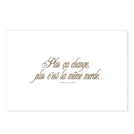 Same S**t (French) Postcards (Package of 8)