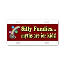 Myths r 4 kids Aluminum License Plate