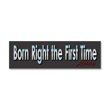 Born Right Car Magnet 10 x 3