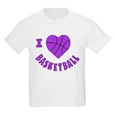 wh  lavendar, Love Basketball T-Shirt