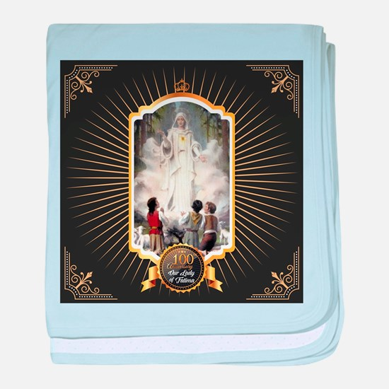 100 Years of Fatima baby blanket
