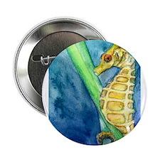 """Unique Seahorse 2.25"""" Button"""