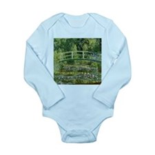 Monet Japanese Bridge Long Sleeve Infant Bodysuit