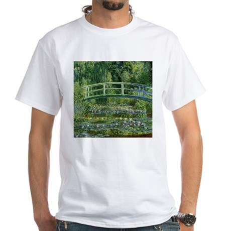 Monet Japanese Bridge White T-Shirt