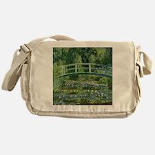 Monet Japanese Bridge Messenger Bag