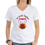 1st Grade Teacher Gift Women's V-Neck T-Shirt