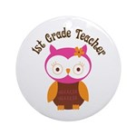 1st Grade Teacher Gift Ornament (Round)