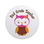 2nd Grade Teacher Gift Ornament (Round)