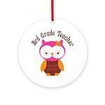 3rd Grade Teacher Gift Ornament (Round)