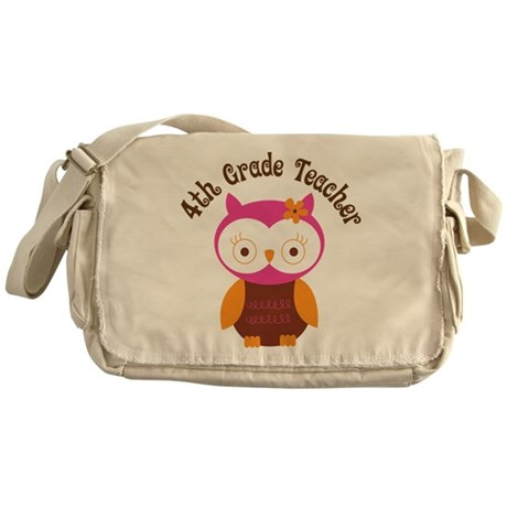 4th Grade Teacher Gift Messenger Bag