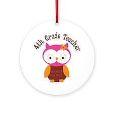 4th Grade Teacher Gift Ornament (Round)