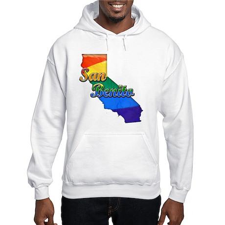 San Benito, California. Gay Pride Hooded Sweatshir