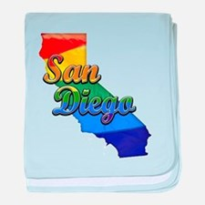 San Diego, California. Gay Pride baby blanket
