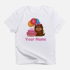 4th Birthday Puppy Infant T-Shirt