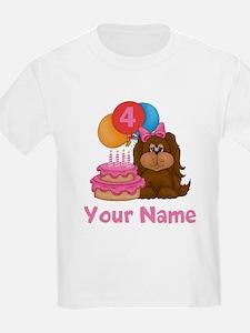 4th Birthday Puppy T-Shirt