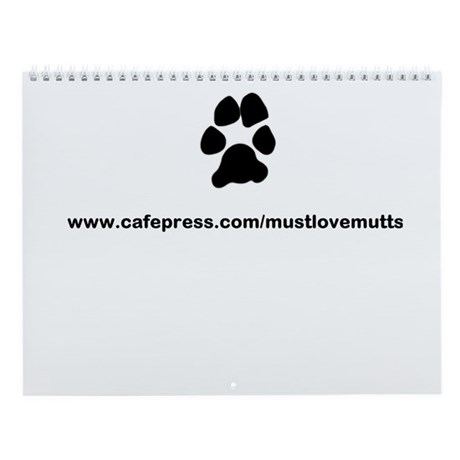 paw print/must luv mutts web Wall Calendar