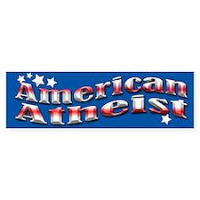 Blue American Atheist Bumper Sticker
