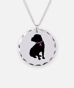 Shar Pei Breast Cancer Support Necklace