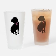 Shar Pei Breast Cancer Support Drinking Glass