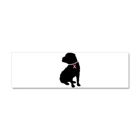 Shar Pei Breast Cancer Support Car Magnet 10 x 3