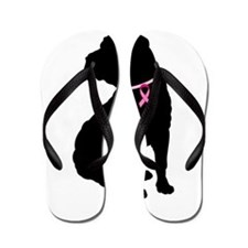 Shar Pei Breast Cancer Support Flip Flops